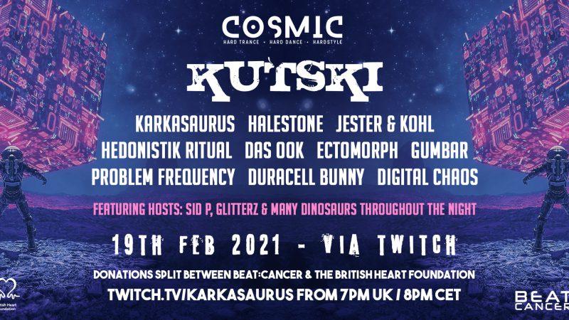 "Cosmic Hard Dance – ""The Reawakening"" with Kutski, Halestone & More | FREE on Twitch"