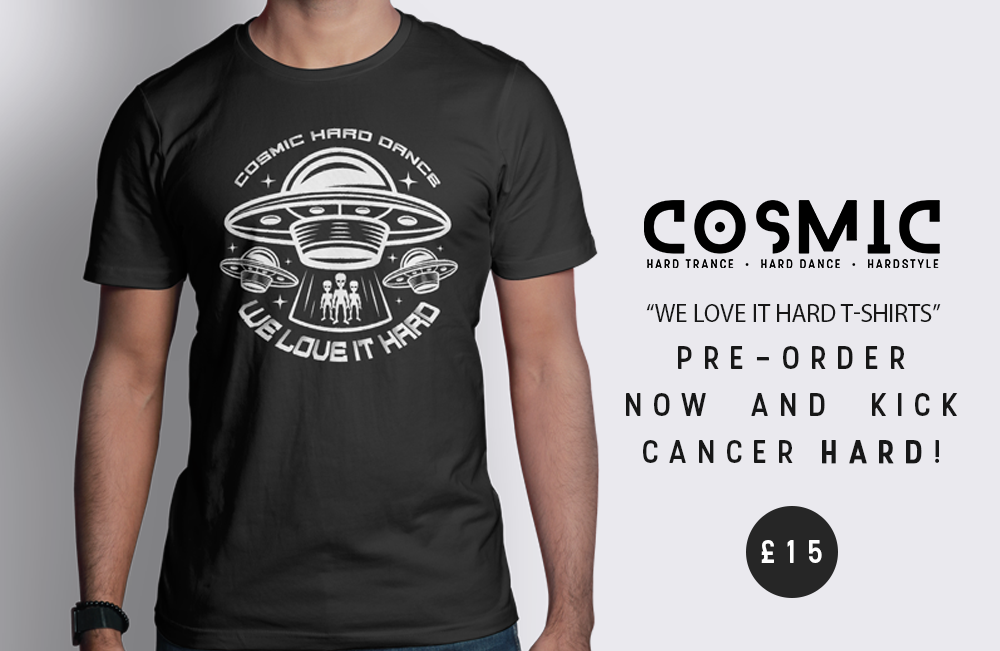 "Cosmic ""We Like It Hard"" T-Shirt in aid of Beat:Cancer"